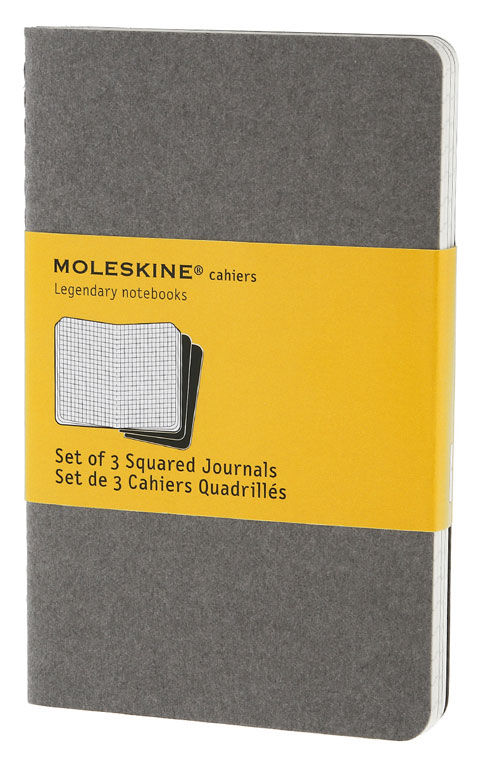 Блокнот Moleskine CAHIER JOURNAL POCKET 90x140мм обложка картон 64стр. клетка серый (3шт) [ch312]