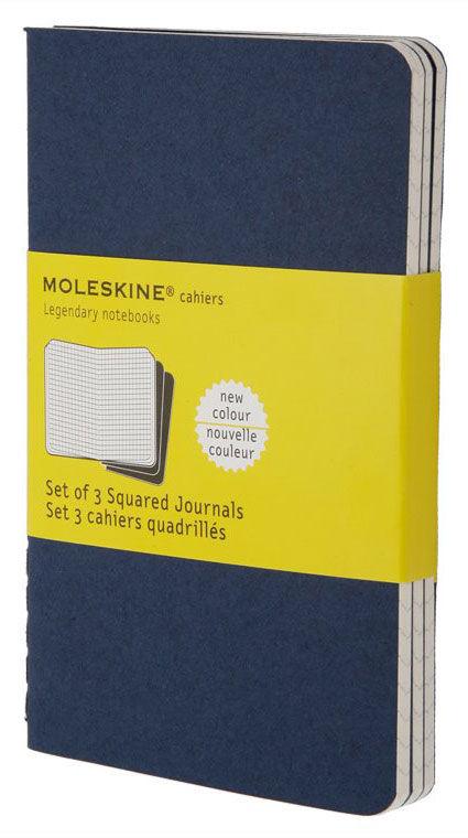 Блокнот Moleskine CAHIER JOURNAL POCKET 90x140мм обложка картон 64стр. клетка синий индиго (3шт) [ch212]