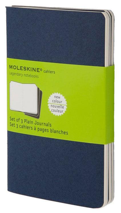 Блокнот Moleskine CAHIER JOURNAL POCKET 90x140мм обложка картон 64стр. нелинованный синий индиго (3ш