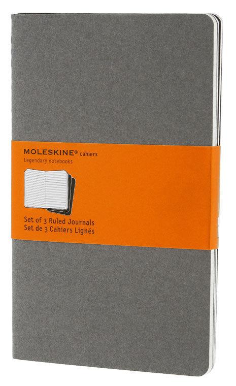 Блокнот Moleskine CAHIER JOURNAL LARGE 130х210мм обложка картон 80стр. линейка серый (3шт)