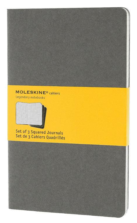 Блокнот Moleskine CAHIER JOURNAL LARGE 130х210мм обложка картон 80стр. клетка серый (3шт)