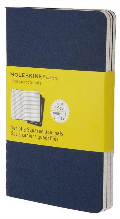 Блокнот Moleskine CAHIER JOURNAL LARGE 130х210мм обложка картон 80стр. клетка синий индиго (3шт)