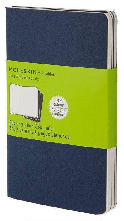 Блокнот Moleskine CAHIER JOURNAL LARGE 130х210мм обложка картон 80стр. нелинованный синий индиго (3ш [ch218]