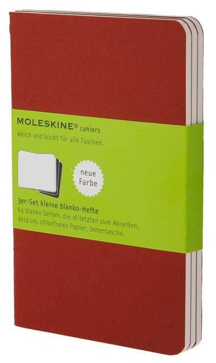 Блокнот Moleskine CAHIER JOURNAL LARGE 130х210мм обложка картон 80стр. нелинованный клюквенный (3шт)