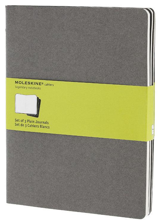 Блокнот Moleskine CAHIER JOURNAL XLarge 190х250мм обложка картон 120стр. нелинованный серый (3шт) [ch323]