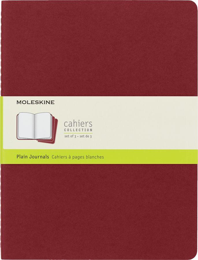 Блокнот Moleskine CAHIER JOURNAL XLarge 190х250мм обложка картон 120стр. нелинованный клюквенный (3ш [ch123]