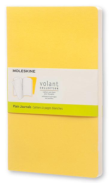Блокнот Moleskine VOLANT POCKET 90x140мм 80стр. нелинованный мягкая обложка желтый/темно-желтый (2шт [qp713m10m11]