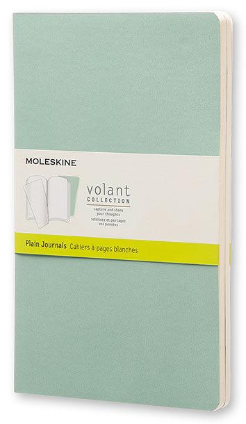 Блокнот Moleskine VOLANT LARGE 130х210мм 96стр. нелинованный мягкая обложка светло-зеленый/темно-зел
