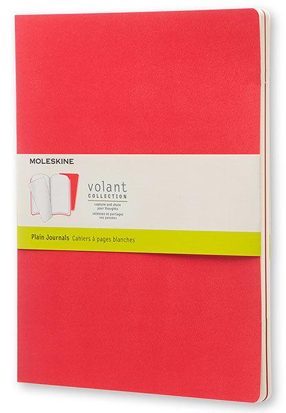 Блокнот Moleskine VOLANT LARGE 130х210мм 96стр. нелинованный мягкая обложка бордовый/красный (2шт)