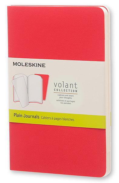 Блокнот Moleskine VOLANT POCKET 90x140мм 80стр. нелинованный мягкая обложка бордовый/красный (2шт) [qp713f14f2]
