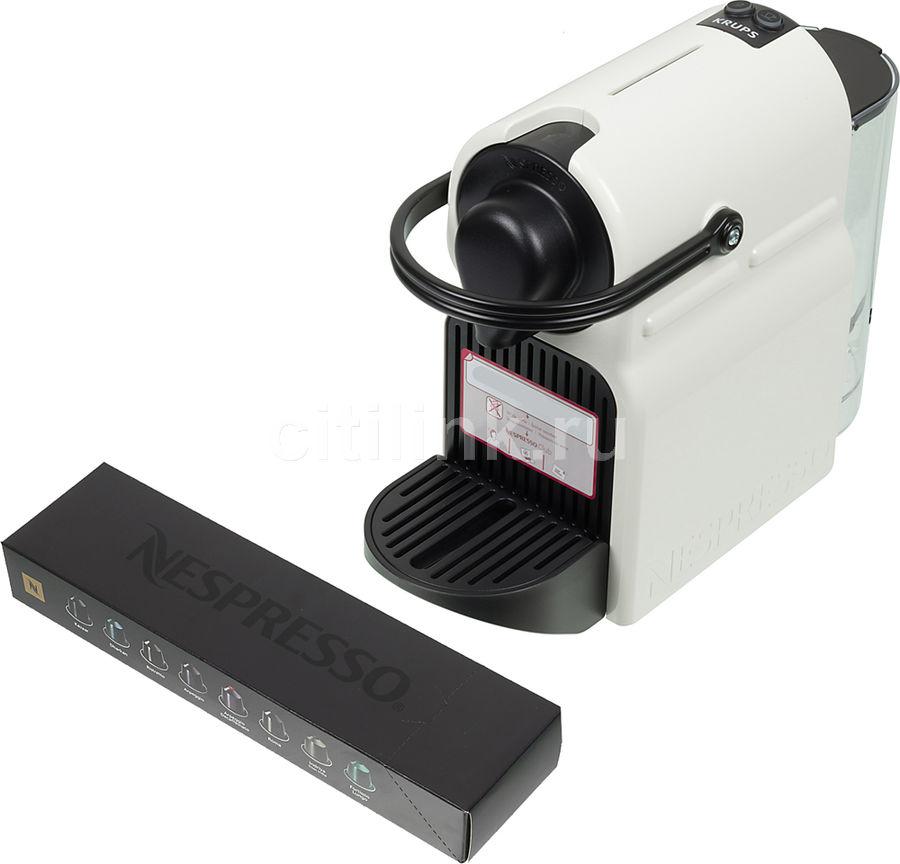 Капсульная кофеварка KRUPS Nespresso Inissia XN101110, 1250Вт, цвет: белый [8000035266]
