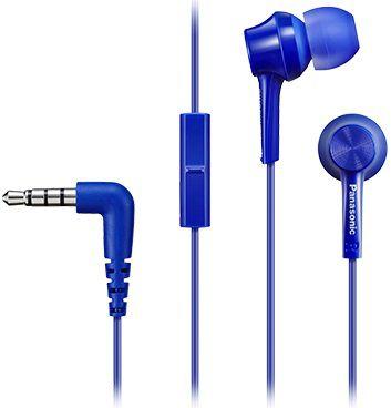 Гарнитура PANASONIC RP-TCM105E-A, вкладыши,  синий, проводные