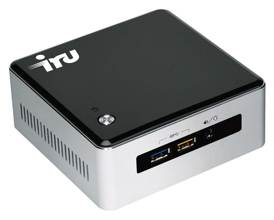 Неттоп  IRU NUC 110,  Intel  Core i3  5010U,  DDR3L 4Гб, 500Гб,  Intel HD Graphics 5500,  Free DOS,  черный и серебристый [395105]