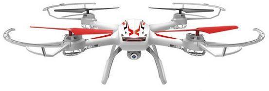 Квадрокоптер SYMA X54HC, с камерой, белый [x54hc white]