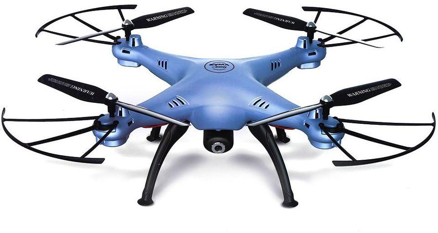 Квадрокоптер SYMA X5HW, с камерой, синий [x5hw blue]