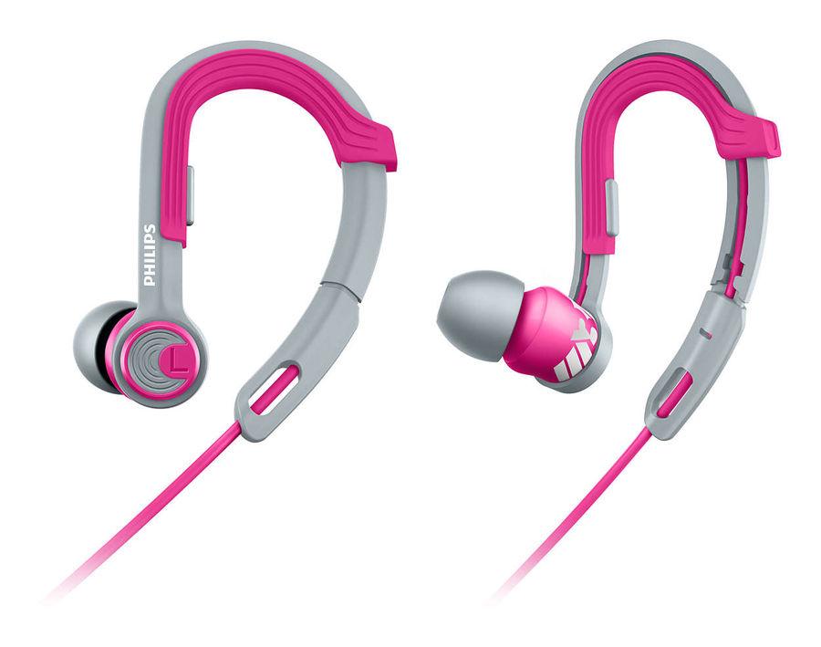 Наушники PHILIPS SHQ3300PK/00, вкладыши,  серый/розовый, проводные