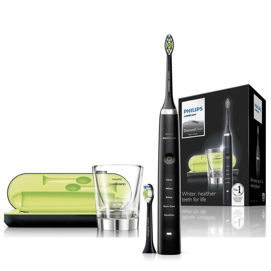 Электрическая зубная щетка PHILIPS Sonicare DiamondClean HX9352/04 черный