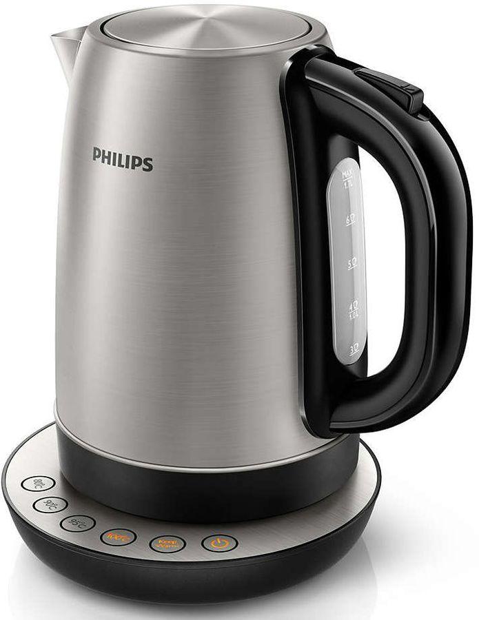 Чайник электрический PHILIPS HD9326/20, 2200Вт, серебристый