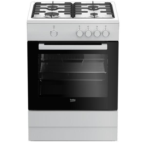Газовая плита BEKO FSG62000W,  газовая духовка,  белый