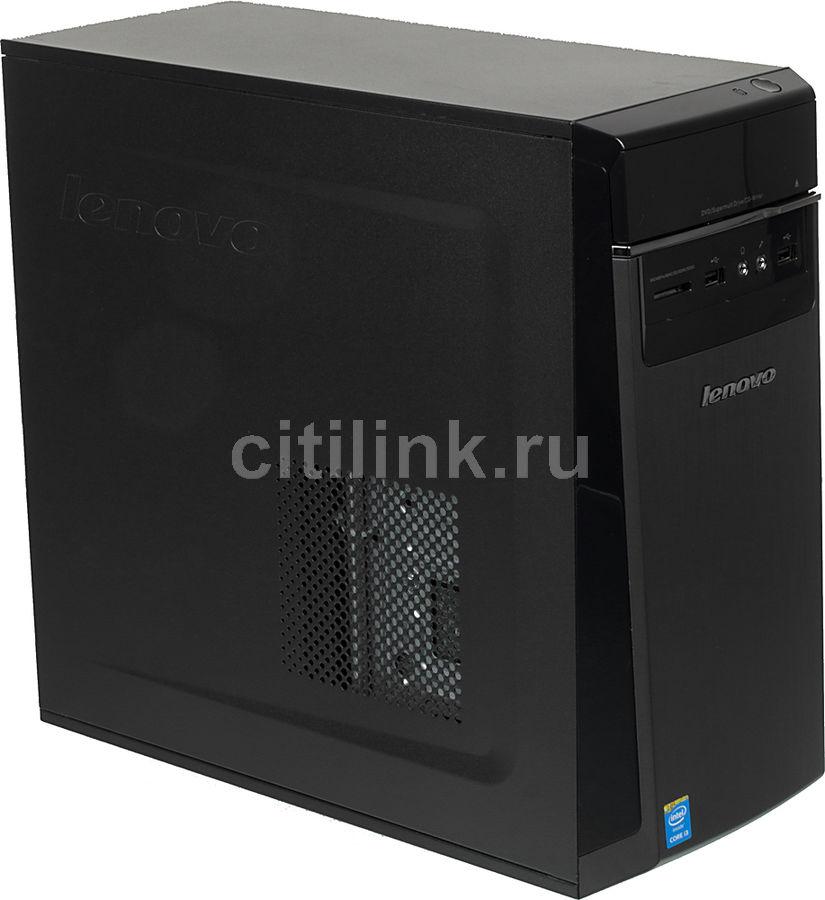 Компьютер  LENOVO H50-50,  Intel  Core i3  4170,  DDR3 4Гб, 500Гб,  Intel HD Graphics 4400,  DVD-RW,  CR,  Free DOS,  черный [90b700hcrs]