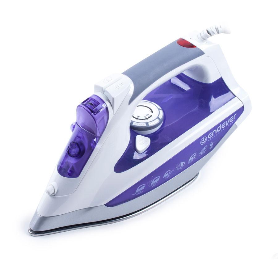 Утюг ENDEVER Skysteam-715,  2600Вт,  белый/ фиолетовый