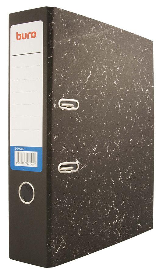 Папка-регистратор Buro A4 70мм бумага/бумага черный мрамор без. окант. разборная накл.на кор.