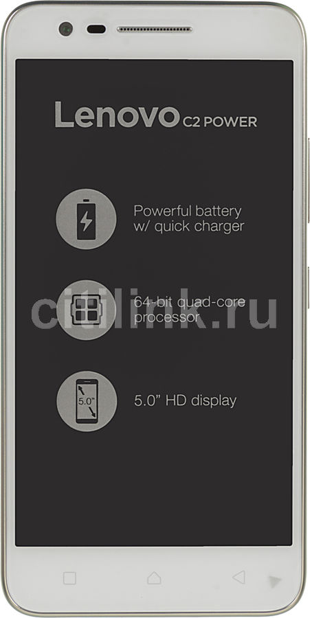 Смартфон LENOVO Vibe C2 Power белый смартфон lenovo vibe c2 power white