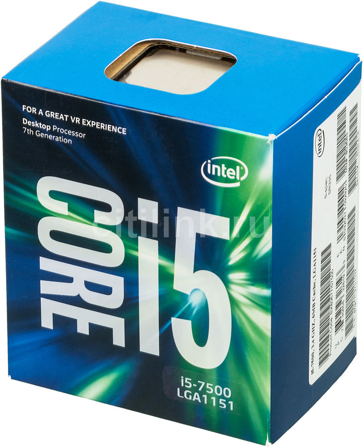 Процессор INTEL Core i5 7500, LGA 1151 BOX [bx80677i57500 s r335]