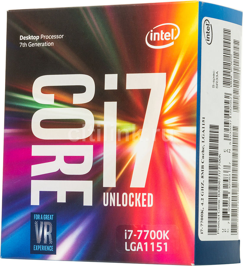 Процессор INTEL Core i7 7700K, LGA 1151 ** BOX [bx80677i77700k s r33a] компьютер hp prodesk 400 g4 intel core i5 7500 ddr4 8гб 1000гб intel hd graphics 630 dvd rw windows 10 professional черный [1jj50ea]