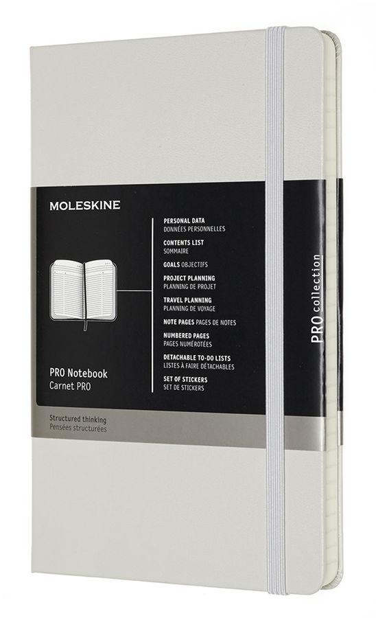 Блокнот Moleskine PROFESSIONAL LARGE 130х210мм 240стр. твердая обложка фиксирующая резинка серый
