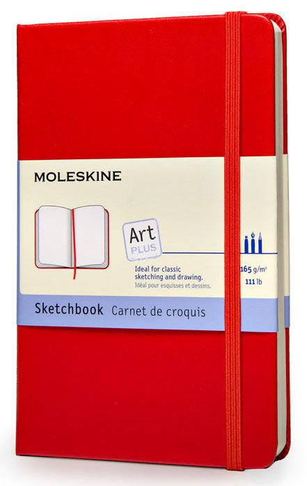 Блокнот для рисования Moleskine CLASSIC SKETCHBOOK Large 130х210мм 104стр. твердая обложка красный