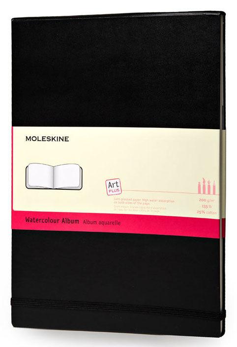 Блокнот для акварели Moleskine CLASSIC WATERCOLOUR NOTEBOOK 90x140мм 60стр. твердая обложка черный