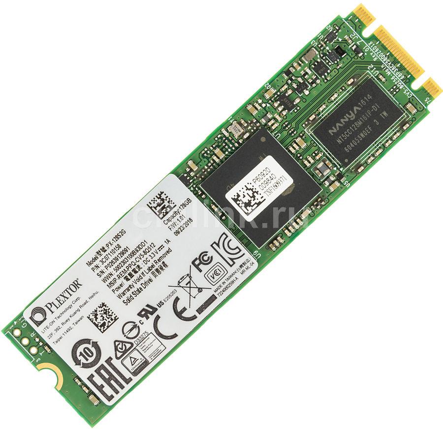 Накопитель SSD PLEXTOR S2 PX-128S2G 128Гб, M.2 2280, SATA III