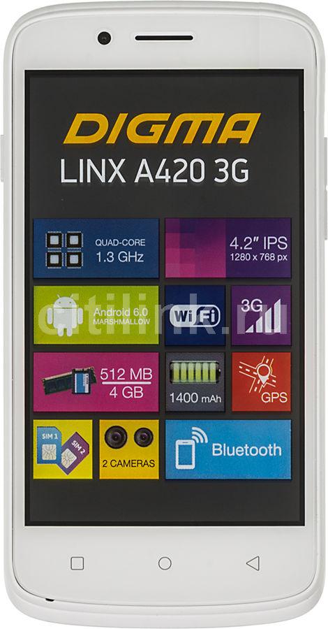 Смартфон DIGMA A420 3G LINX,  белый