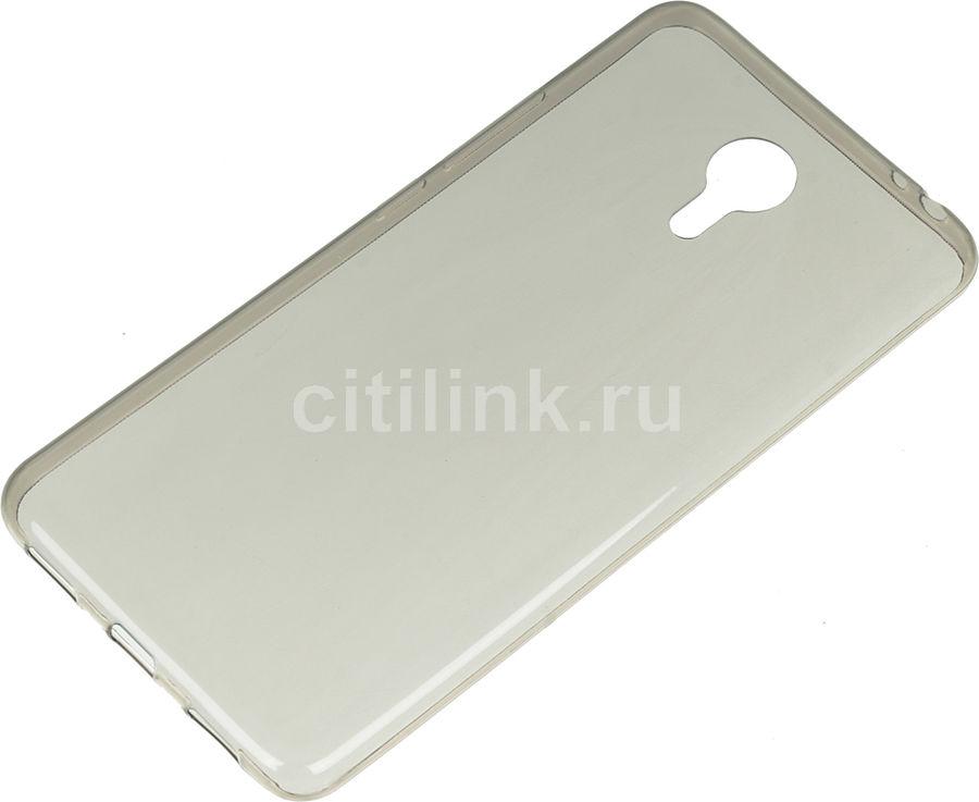 Чехол (клип-кейс) REDLINE iBox Crystal, для Meizu M3 Note, серый [ут000009641]