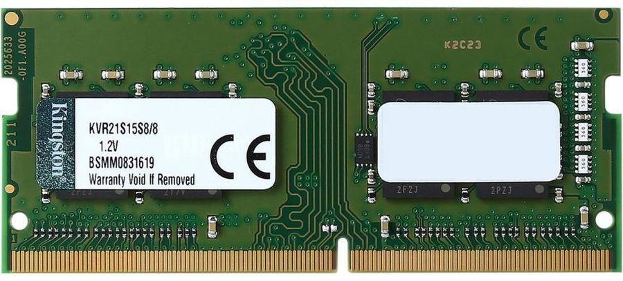 Модуль памяти KINGSTON VALUERAM KVR21S15S8/8 DDR4 -  8Гб 2133, SO-DIMM,  Ret