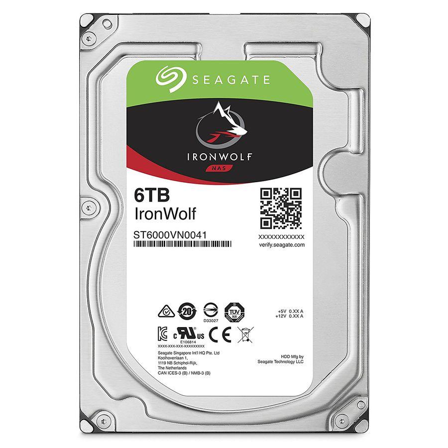 "Жесткий диск SEAGATE Ironwolf ST6000VN0041,  6Тб,  HDD,  SATA III,  3.5"""