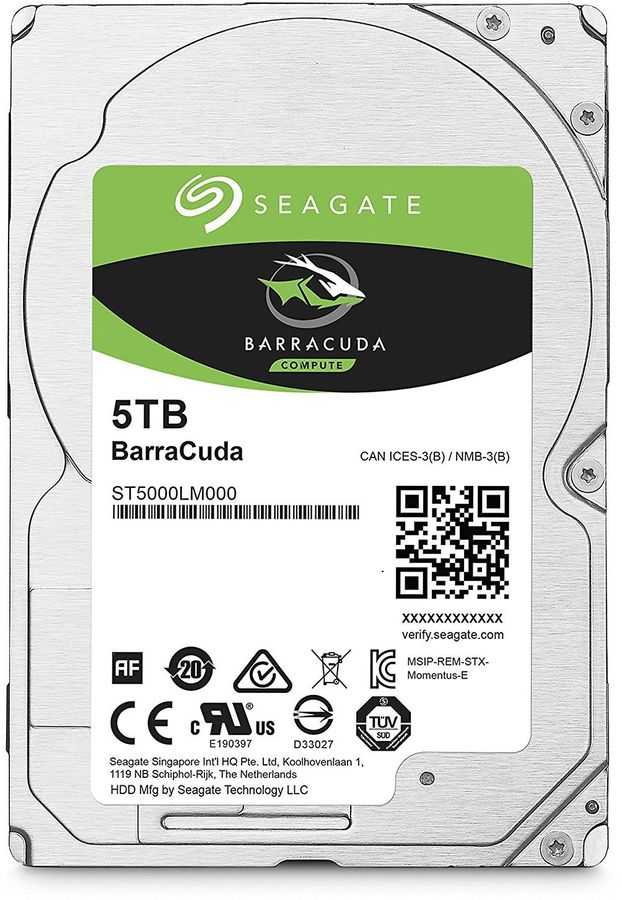 "Жесткий диск SEAGATE Barracuda ST5000LM000,  5Тб,  HDD,  SATA III,  2.5"""