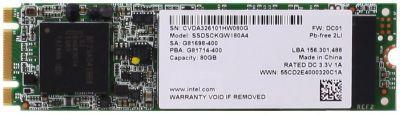 SSD накопитель INTEL 530 Series SSDSCKGW180A401 180Гб, M.2 2280, SATA III [ssdsckgw180a401 926462]