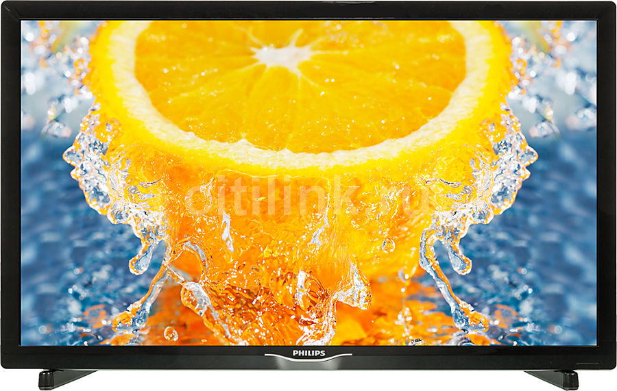 LED телевизор PHILIPS 22PFT4031/60 R, 22, FULL HD (1080p), черный телевизор philips 32pht4100 60 hd pmr 100 черный
