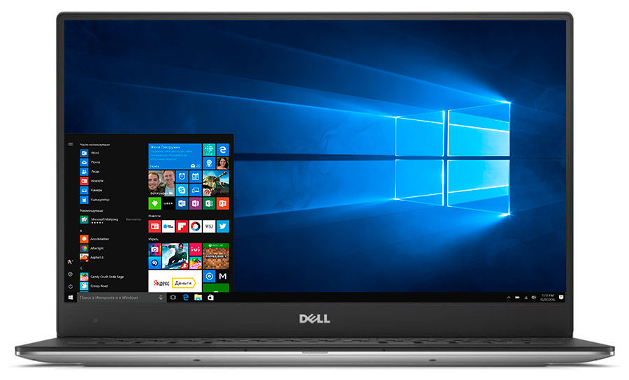 Ультрабук DELL XPS 13, 13.3, Intel Core i7 7500U, 2.7ГГц, 8Гб, 256Гб SSD, Intel HD Graphics 620, Windows 10 Professional, серебристый [9360-3607]