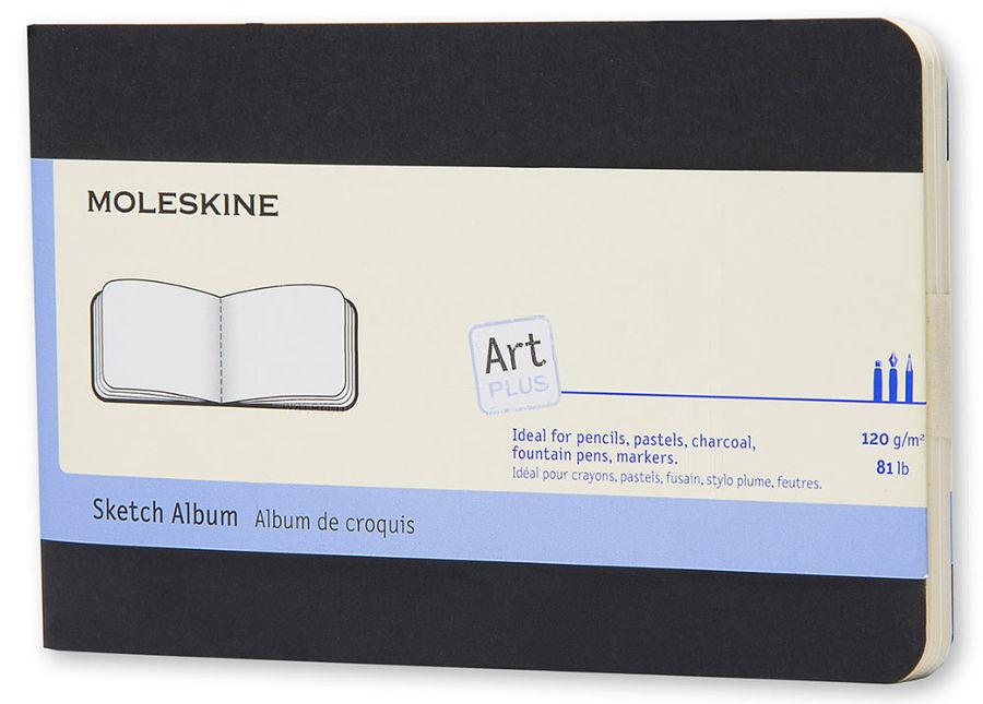 Блокнот для рисования Moleskine CAHIER SKETCH ALBUM Pocket 90x140мм обложка картон 72стр. черный
