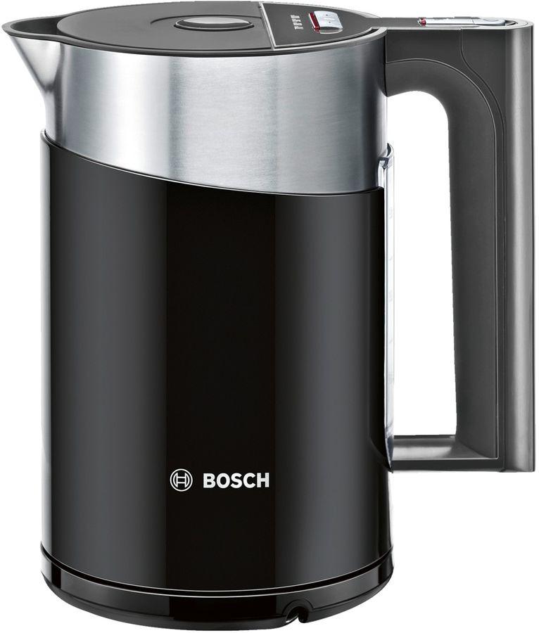Чайник электрический BOSCH TWK861P3RU, 2400Вт, черный