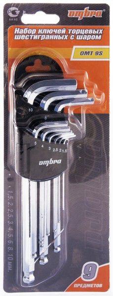 Набор ключей OMBRA OMT9S,  9 предметов [55012]