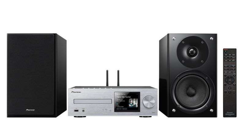 Музыкальный центр PIONEER X-HM86D-S,  серебристый
