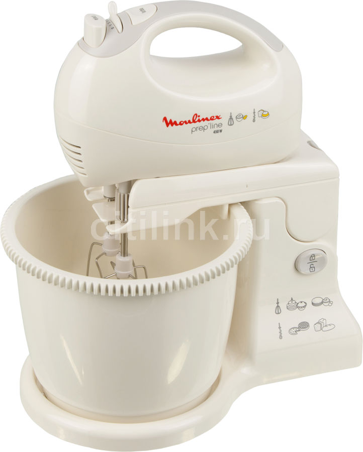 Миксер MOULINEX HM412131, ручной,  белый и серый [1500814332]