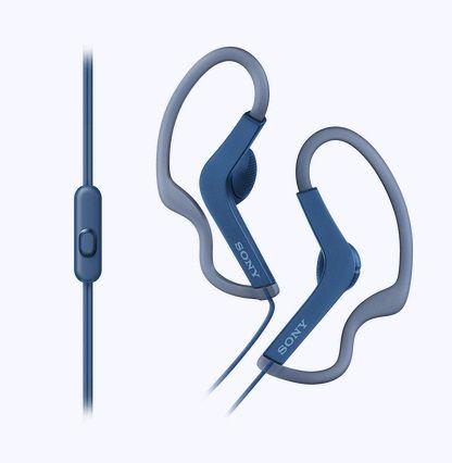 Гарнитура SONY MDRAS210APL.E, вкладыши,  синий, проводные