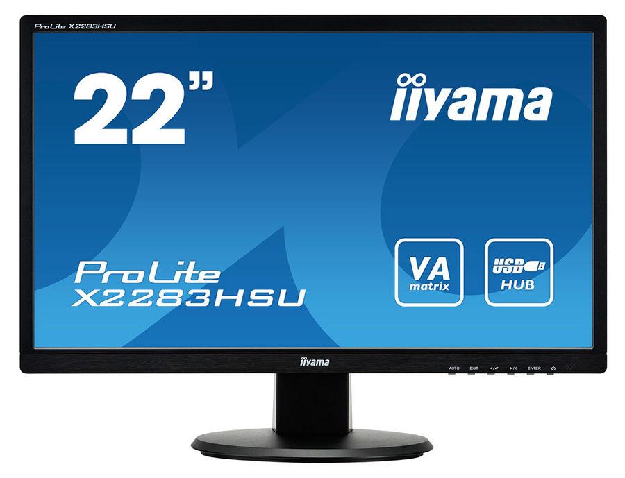 """Монитор IIYAMA X2283HSU-B1DP 21.5"""", черный"""