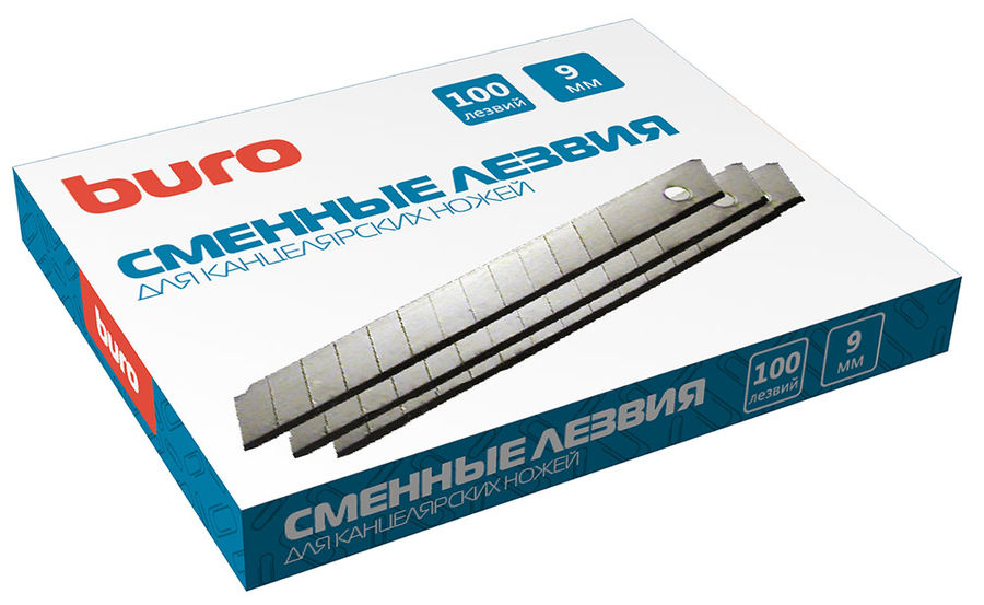 Лезвия для канцелярского ножа Buro 070001206 шир.лез.9мм (упак.:10шт)