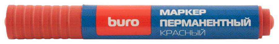 Маркер перманентный Buro 048001102 круглый пиш. наконечник 2мм красный